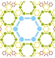 background of molecule structure Medical vector image
