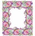 Flower watercolor wreath for beautiful design vector image