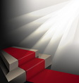 Scene with the carpet under the lights vector image vector image