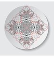 A set of round decorative elements - vector image