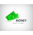 financial logo bank business money vector image