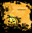 Hand drawn Halloween background vector image