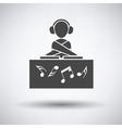 Night club DJ icon vector image