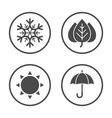 seasons icon design simple rounded weather icons vector image