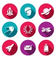 Set of A Space Flight Icons Spaceport vector image
