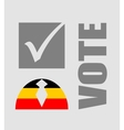 Vote text with check mark and human icon vector image