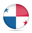 button with flag of Panama vector image