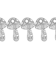 Black and white decorative mushrooms for vector image