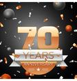 Seventy years anniversary celebration background vector image