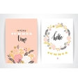 Summer floral card template vector image