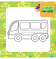 Bus toy vector image vector image