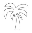 Palm the black color icon vector image