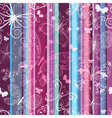 Seamless striped vintage pattern vector image