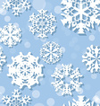 Snowflakes Winter seamless texture endless pattern vector image