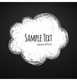 Chalk Doodle Cloud Background vector image