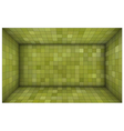 empty futuristic room with green walls vector image
