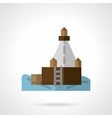 Port jetty flat icon vector image