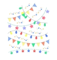 Colorful birthday and party decoration vector image vector image
