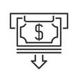 ATM line icon vector image