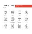 Business - flat design line icons set vector image