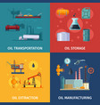 concept pictures of oil manufacturing fuel vector image