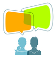 Dialog people vector image