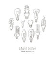 Doodle Set of light bulbs vector image