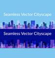 night and day city seamless vector image