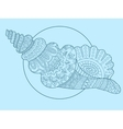 Seashell hand drawn vector image
