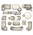 set of grey progress version step icons vector image