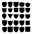 set shields black vector image