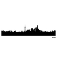 Shanghai skyline vector image
