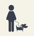 man icon with dog umbrella2 resize vector image vector image
