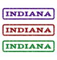 indiana watermark stamp vector image