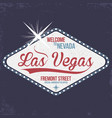 las vegas welcome to nevada stamp with grunge vector image