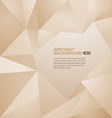 Polygonal Background Brown vector image vector image