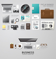 Infographic office tools flat lay idea hipster vector image