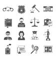 Law Icon Flat vector image