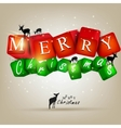 merry christmas and happy new year 2012 background vector image vector image