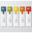 Back 5 steps color banner template vector image
