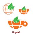 organic icon in orange color vector image