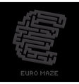 Dollar business isometric black maze vector image vector image