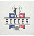 Football Championship of France Soccer time vector image