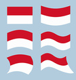 Monaco flag Set of flags of Monaco Republic in vector image