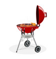 barbecue grill picnic camping cooking vector image