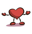 cartoon heart drawing by vector image