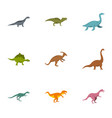figures dinosaur icons set flat style vector image