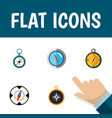 flat icon compass set of divider navigation vector image