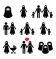 Muslim woman in burqa or burkha bourkha burka vector image