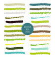 set of green hand painted watercolor stripes vector image